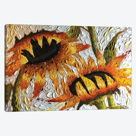 Sunflower Embrace  Canvas Print #DTO37} by Dena Tollefson Canvas Artwork