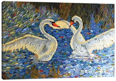 Swan Love I Canvas Art Print