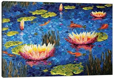 Koi Pond Joy Canvas Art Print