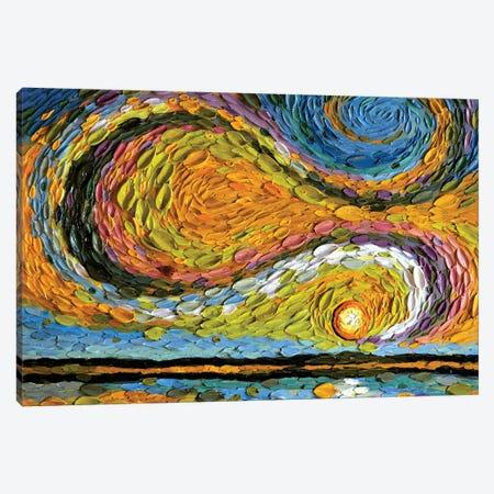 Chartreuse Sky  Canvas Print #DTO4} by Dena Tollefson Canvas Art