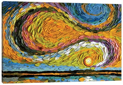 Chartreuse Sky  Canvas Art Print