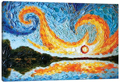 Moses's Sky Canvas Art Print