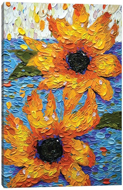 Flowers For Desiree Canvas Art Print