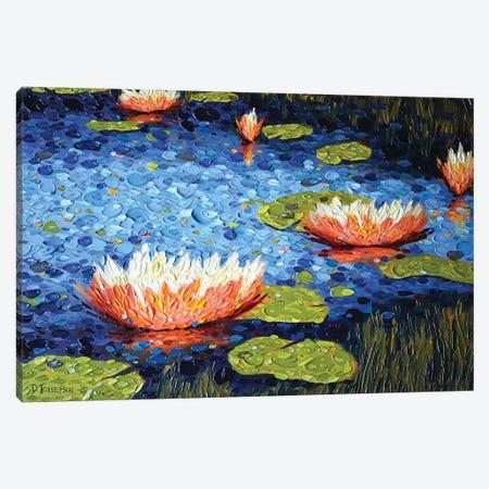 Jacqueline's Pond Canvas Print #DTO53} by Dena Tollefson Art Print