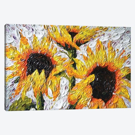Joyful Sunflowers Canvas Print #DTO54} by Dena Tollefson Canvas Art