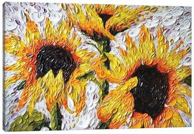 Joyful Sunflowers Canvas Art Print