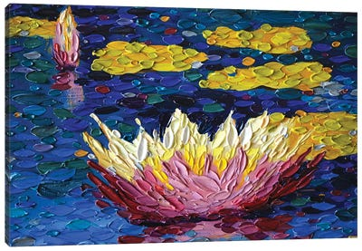 Lilies In Mauve Canvas Art Print