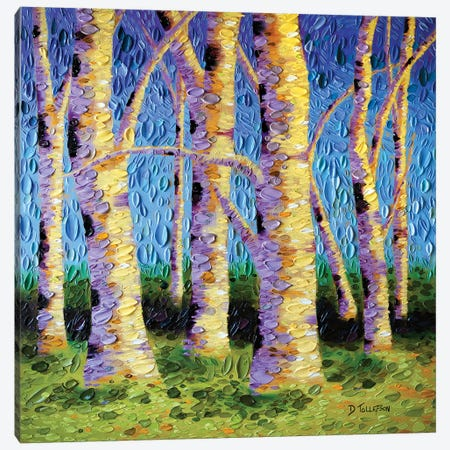 The Lyrical Garden Canvas Print #DTO57} by Dena Tollefson Canvas Wall Art