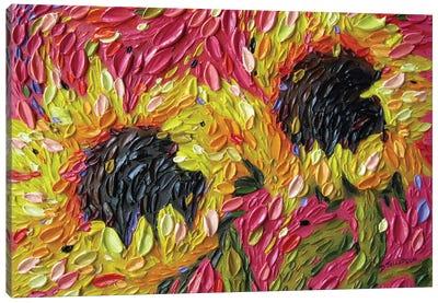 Fiesta Sunflowers Canvas Art Print
