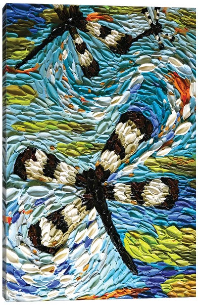 Dragonfly Tango  Canvas Art Print
