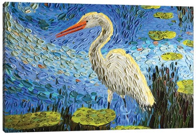 Egret's Pond  Canvas Art Print