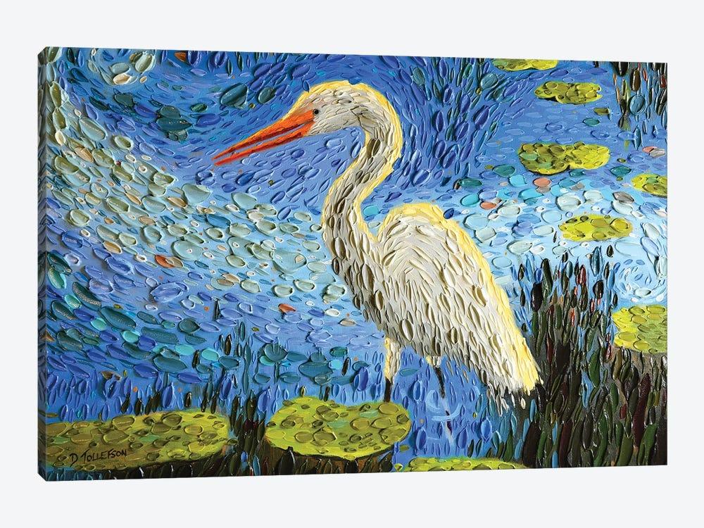 Egret's Pond  by Dena Tollefson 1-piece Canvas Print