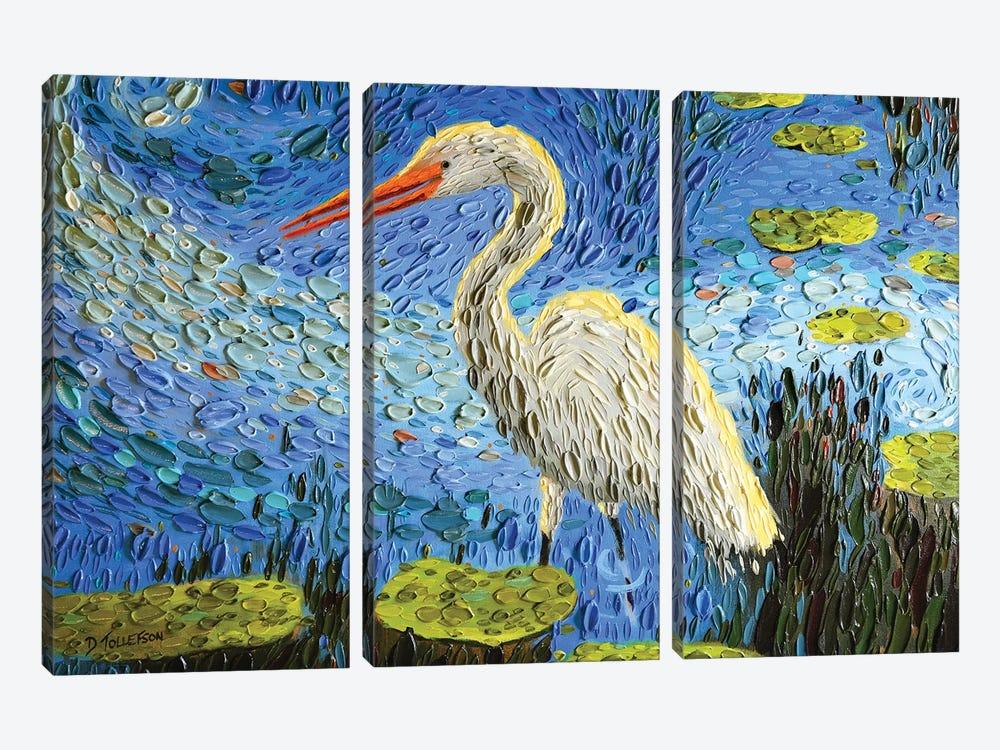 Egret's Pond  by Dena Tollefson 3-piece Art Print