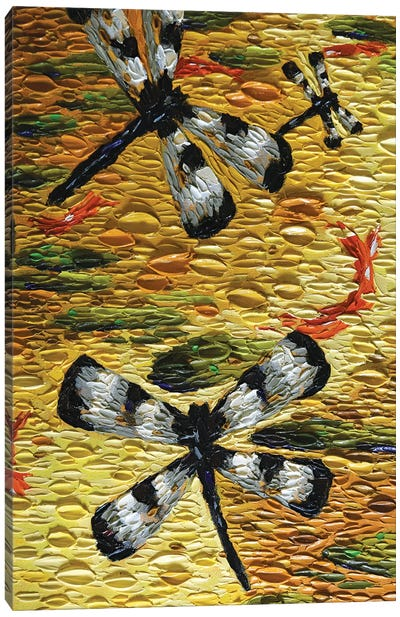 Golden Pond Dragonflies  Canvas Art Print