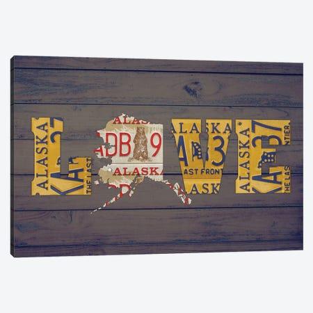AK State Love Canvas Print #DTU156} by Design Turnpike Canvas Art Print