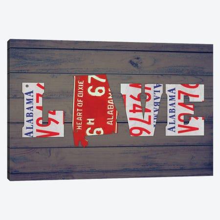 AL State Love Canvas Print #DTU157} by Design Turnpike Canvas Print