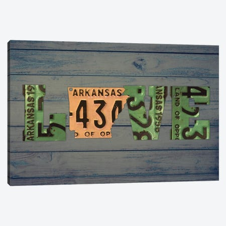 AR State Love 2 Canvas Print #DTU159} by Design Turnpike Canvas Art