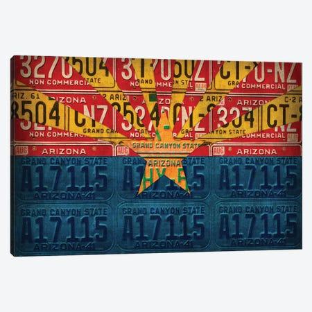 Arizona State Flag License Plates Canvas Print #DTU160} by Design Turnpike Canvas Art Print