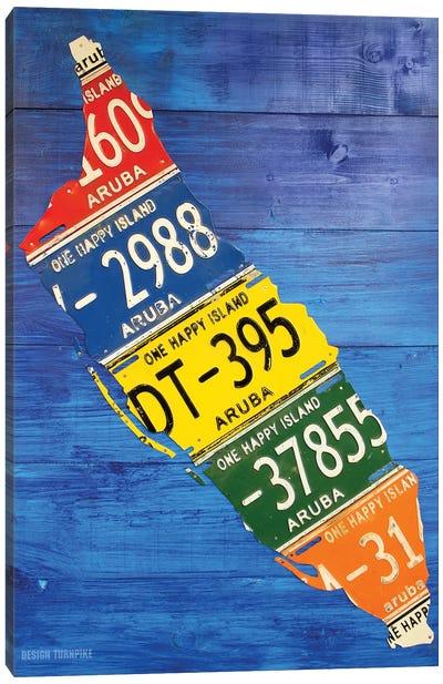 Aruba License Plate Map Canvas Art Print