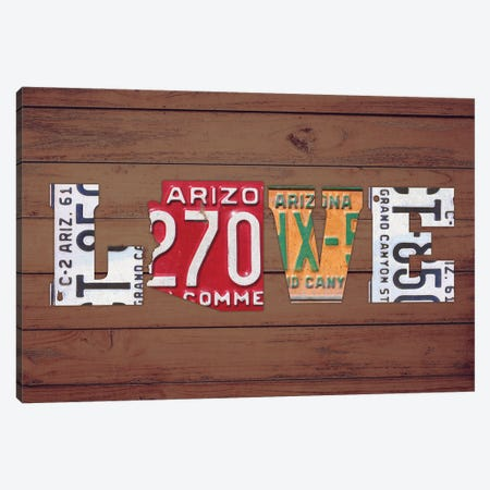 AZ State Love Canvas Print #DTU162} by Design Turnpike Art Print