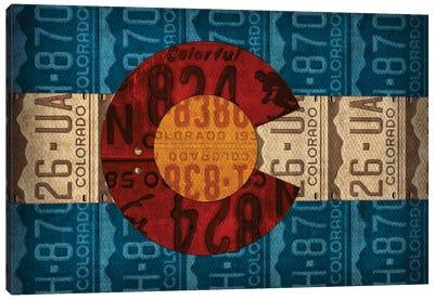 Colorado State Flag License Plates Canvas Art Print