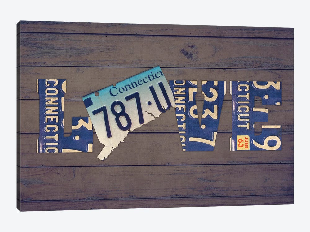 CT State Love by Design Turnpike 1-piece Art Print