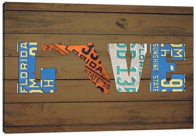 FL State Love Canvas Art Print