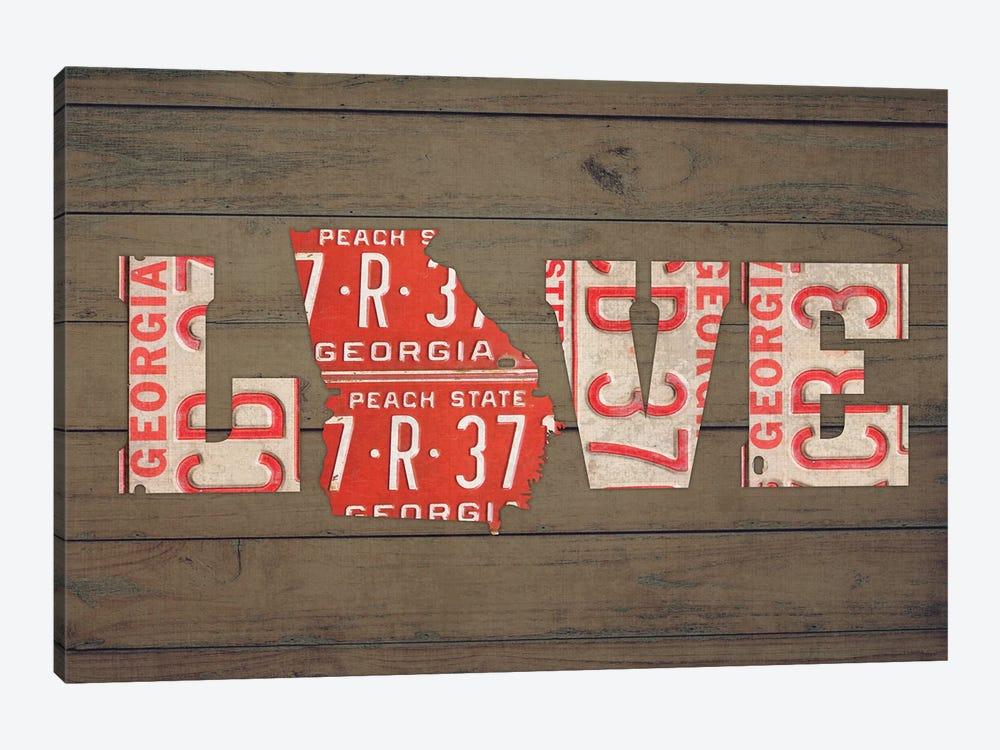 GA State Love by Design Turnpike 1-piece Canvas Art