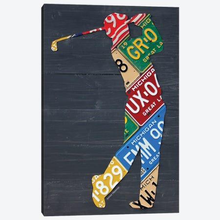 Golfer License Plateart Canvas Print #DTU173} by Design Turnpike Canvas Artwork
