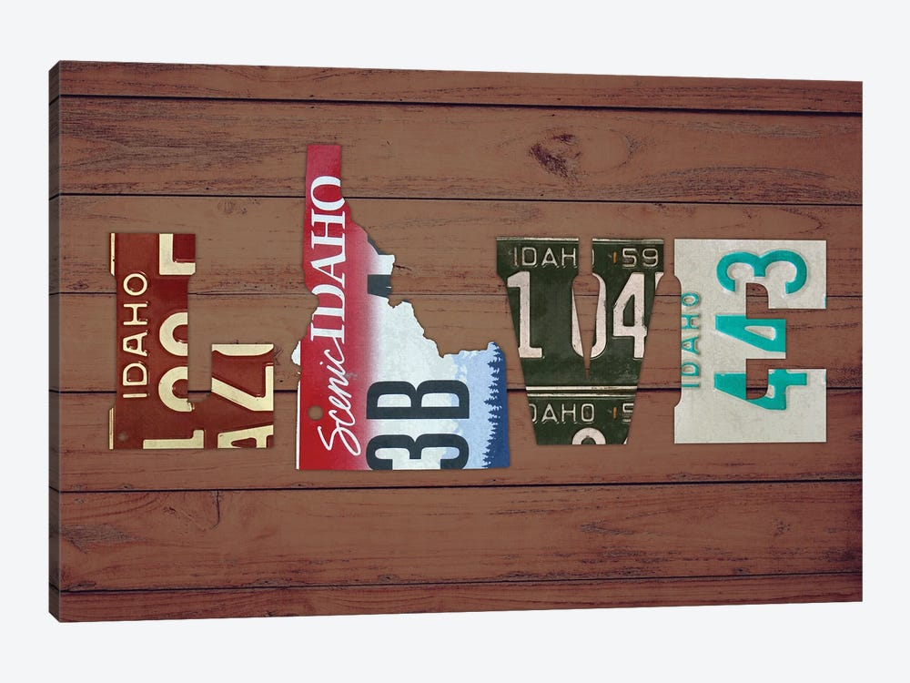 ID State Love by Design Turnpike 1-piece Canvas Print