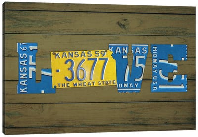 KS State Love Canvas Art Print
