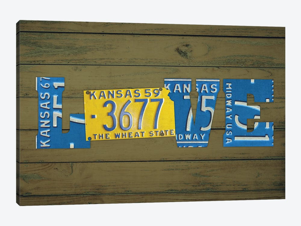 KS State Love by Design Turnpike 1-piece Canvas Print