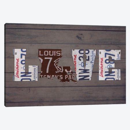 LA State Love Canvas Print #DTU185} by Design Turnpike Canvas Art