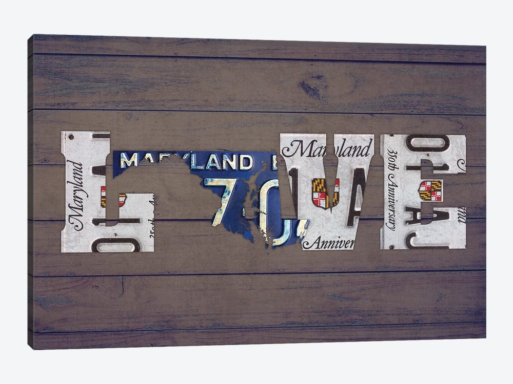 MD State Love by Design Turnpike 1-piece Canvas Artwork