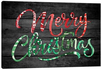Merry Christmas License Plates Canvas Art Print