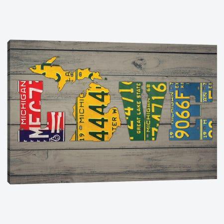 MICH State Love Canvas Print #DTU191} by Design Turnpike Canvas Artwork