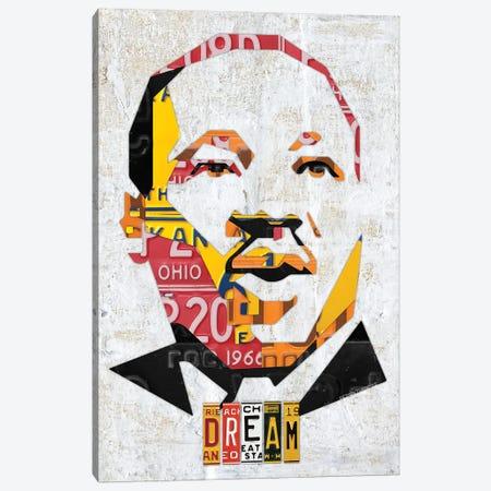 Mlk Dream Portrait Canvas Print #DTU193} by Design Turnpike Canvas Wall Art