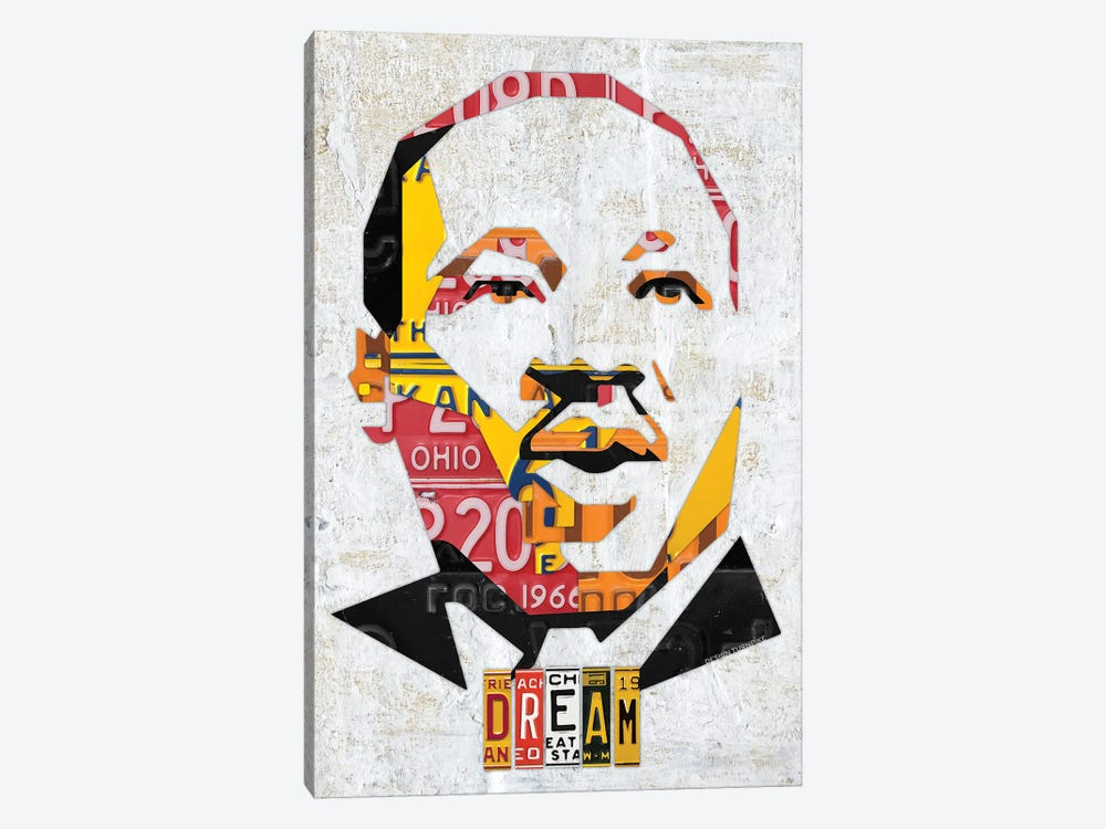 Mlk Dream Portrait by Design Turnpike 1-piece Canvas Art