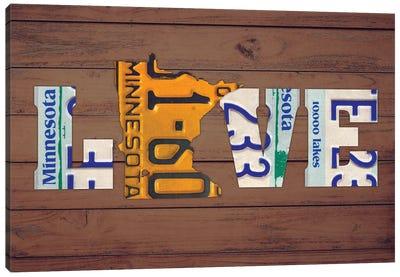 MN State Love Canvas Art Print