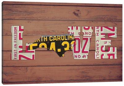 NC State Love Canvas Art Print