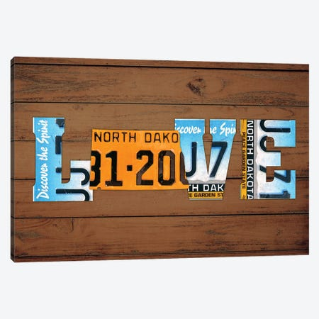 ND State Love Canvas Print #DTU200} by Design Turnpike Canvas Art