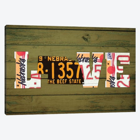 NE State Love Canvas Print #DTU201} by Design Turnpike Canvas Wall Art