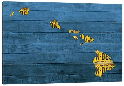 New Hawaii Map Canvas Art Print