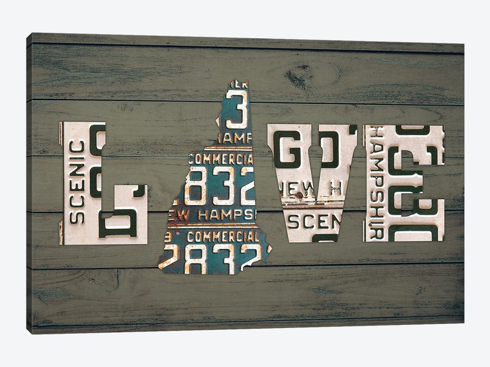 NH State Love by Design Turnpike 1-piece Canvas Artwork