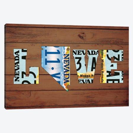 NV State Love Canvas Print #DTU207} by Design Turnpike Canvas Art Print