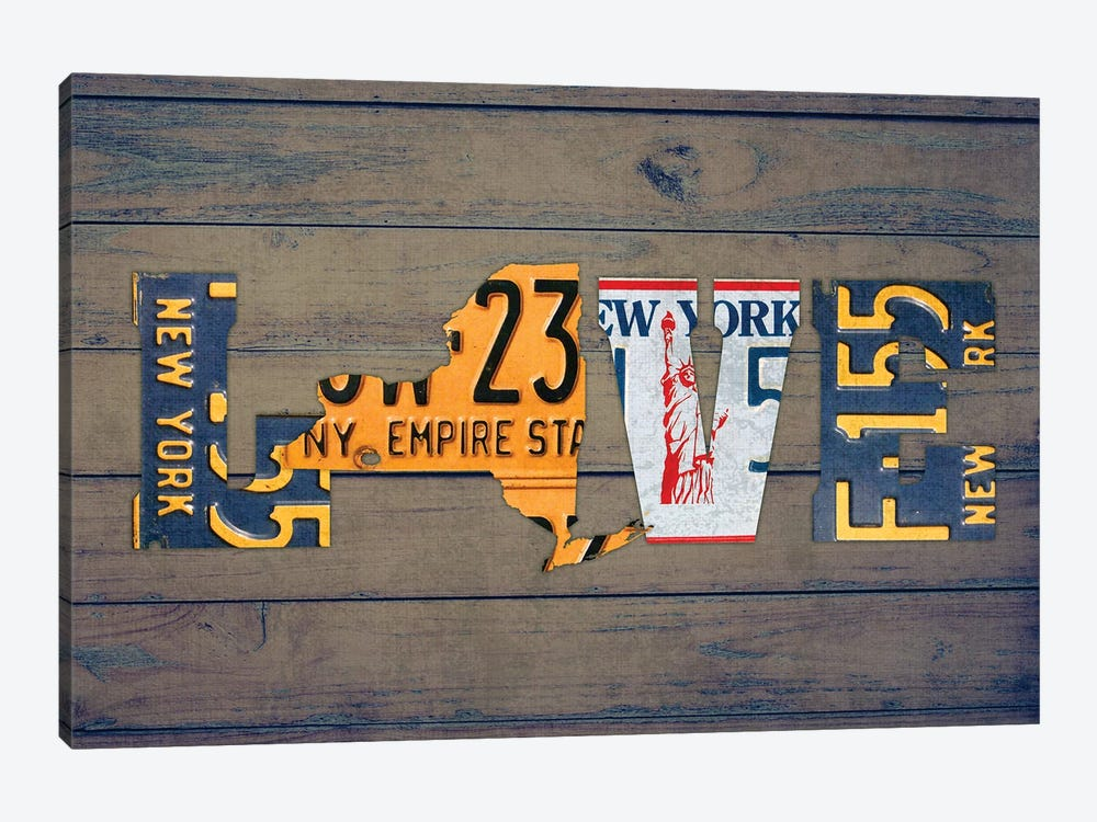 NY State Love by Design Turnpike 1-piece Canvas Art
