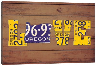 OR State Love Canvas Art Print
