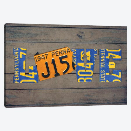PA State Love Canvas Print #DTU214} by Design Turnpike Canvas Art