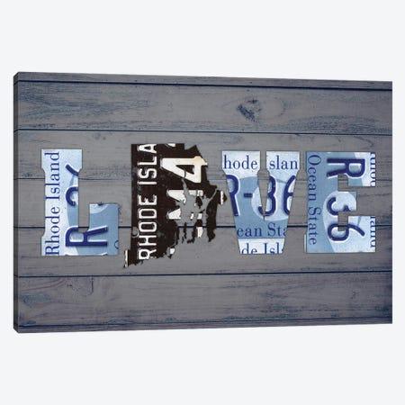 RI State Love Canvas Print #DTU218} by Design Turnpike Canvas Art Print