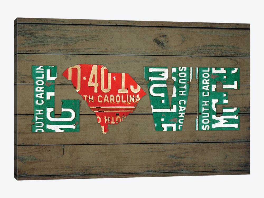 SC State Love by Design Turnpike 1-piece Canvas Artwork